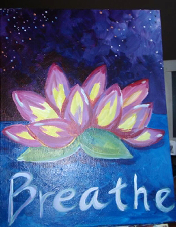 Breathe paint and sip party 2015 long island art painting for Craft party long island