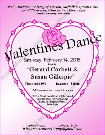Irish american society of nassau suffolk queens 2015 for Long island dulux valentine