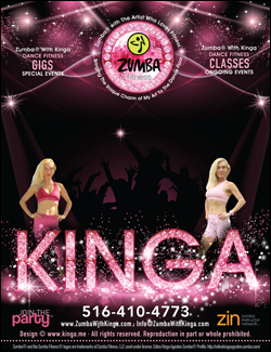 Zumba with Kinga offers European style dance fitness gigs for special events, benefit fundraisers and private/corporate parties. Zumba classes, Zumba master classes, Zumba dance fitness events, Zumba fitness gigs, Zumba charity benefit fundraisers for Long Island not for profit organizations, Zumba benefit events, Zumba special events, Zumba parties in Nassau County, Suffolk County and the Hamptons Long Island, New York with European American artist/Zumba dancer Edina Kinga Agoston.