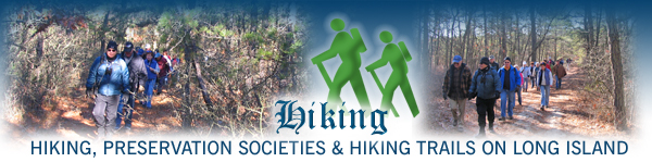 Long Island hike, hiking, trails, trails preservation societies located in Nassau County, Suffolk County, Hamptons, New York