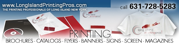 Long Island Printing Pros · The Printing Professionals of Long Island New York · Long Island Graphic Design · Long Island Graphic Designer