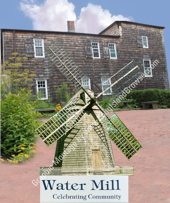 Water Mill Museum - Historic Water Powered Grist Mill - Water Mill Suffolk County Hamptons Long Island New York