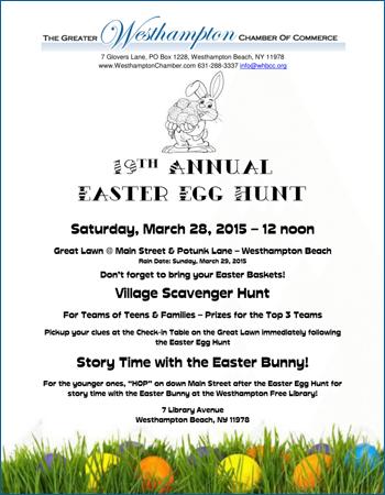 Westhampton Beach Chamber 19th Annual Easter Egg Hunt 2015 ...