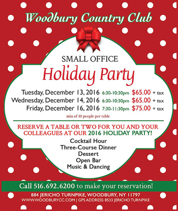 Woodbury Country Club 2016 Small Office Holiday Party Long Island New York